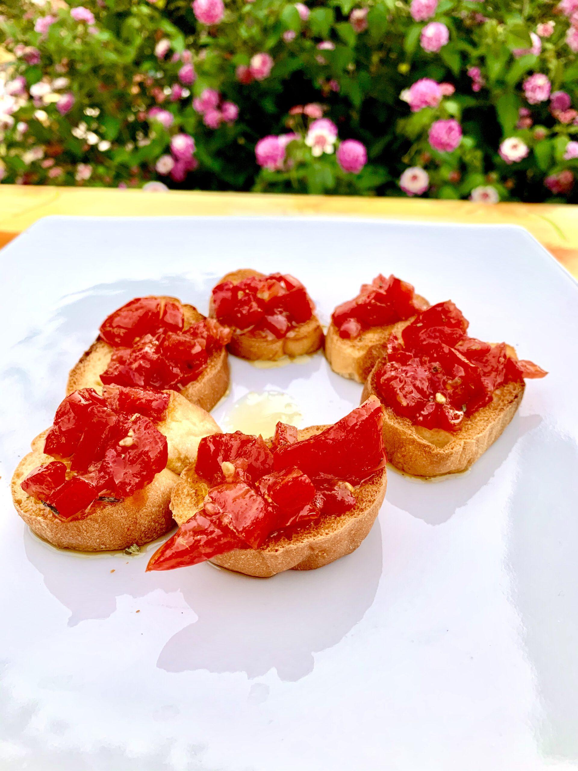 Bruschette al pomodoro (4 pezzi)