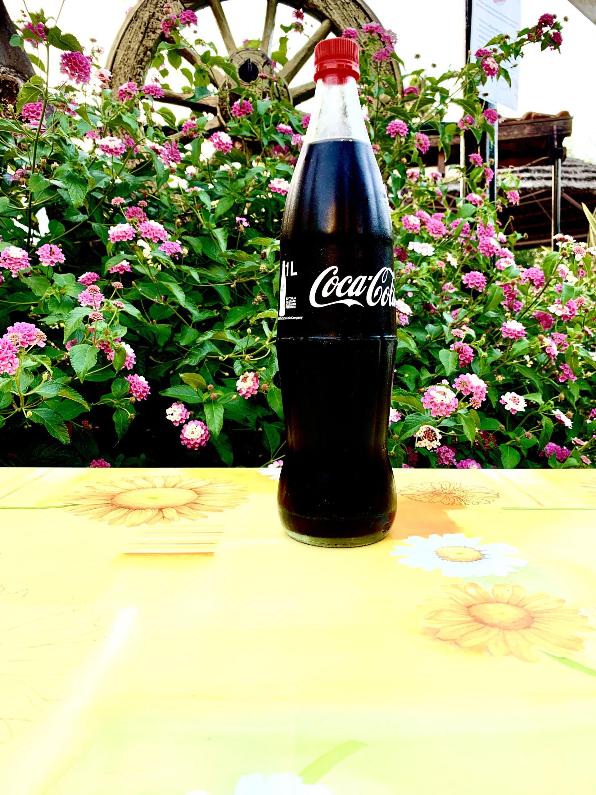 Coca-cola in bottiglia da 1 litro